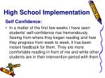 high school implementation2