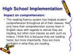 high school implementation4