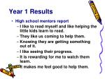 year 1 results8