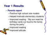 year 1 results9
