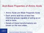 acid base properties of amino acids