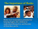 the importance of books