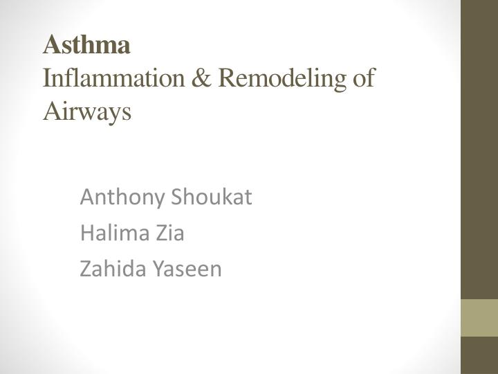 asthma inflammation remodeling of airways n.