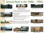 schools built in the 1940s 1950s