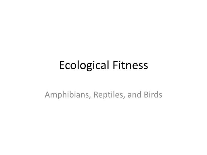 ecological fitness n.