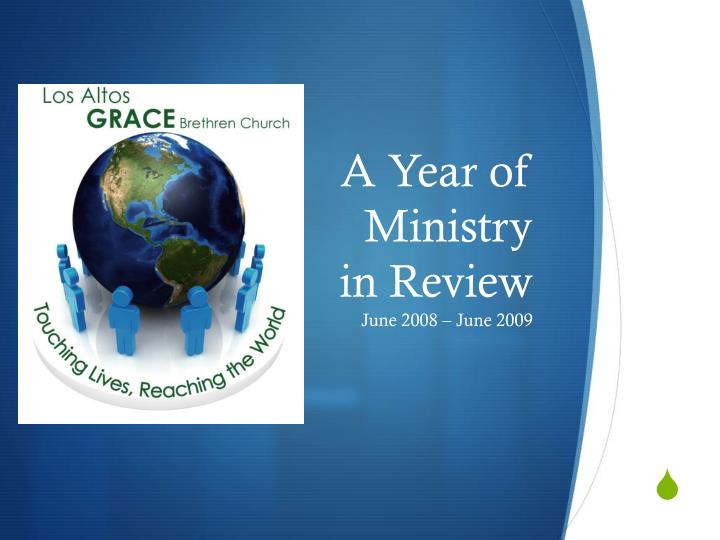 a year of ministry in review n.
