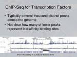 chip seq for transcription factors
