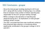 ssc conclusions grouper