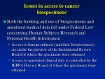 issues in access to cancer biospecimens2
