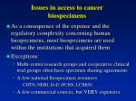 issues in access to cancer biospecimens3
