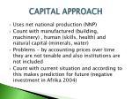 capital approach