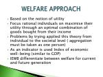 welfare approach