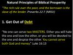 natural principles of biblical prosperity