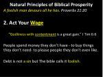 natural principles of biblical prosperity1