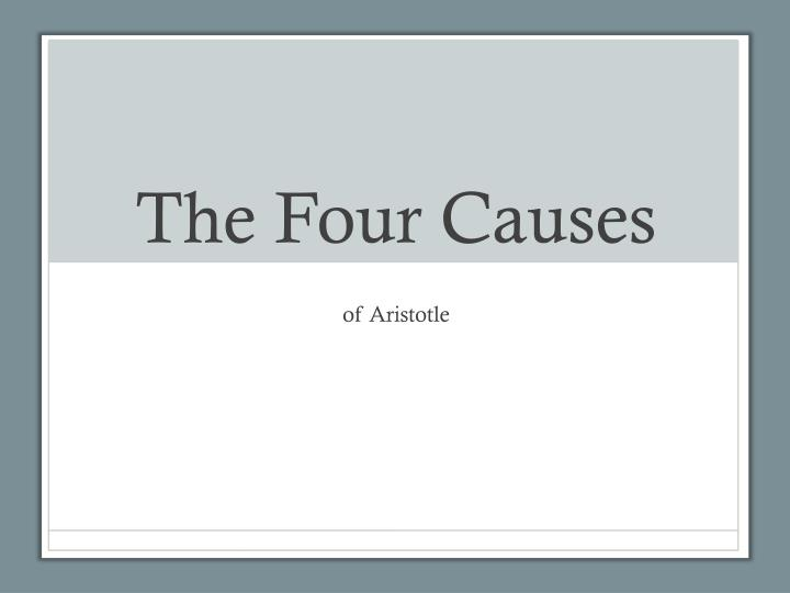 the four causes n.