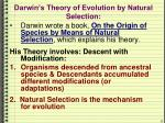 darwin s theory of evolution by natural selection