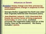 influences on darwin