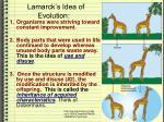 lamarck s idea of evolution