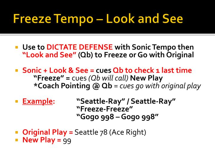 Freeze Tempo – Look and See
