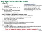 key agile technical practices