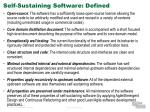 self sustaining software defined