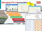 managing etx 2 service life cycle