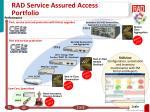 rad service assured access portfolio