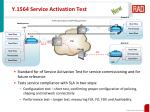 y 1564 service activation test