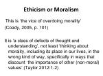ethicism or moralism