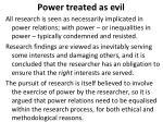 power treated as evil