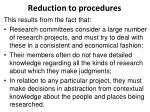 reduction to procedures