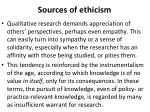 sources of ethicism