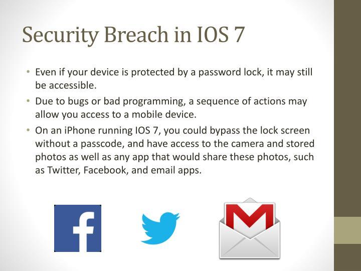 Security Breach in IOS 7