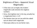brightness of stars apparent visual magnitudes