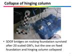 collapse of hinging column