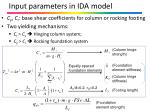 input parameters in ida model
