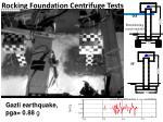 rocking foundation centrifuge tests