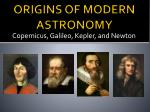 origins of modern astronomy