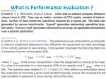 what is performance evaluation
