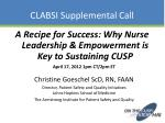 clabsi supplemental call