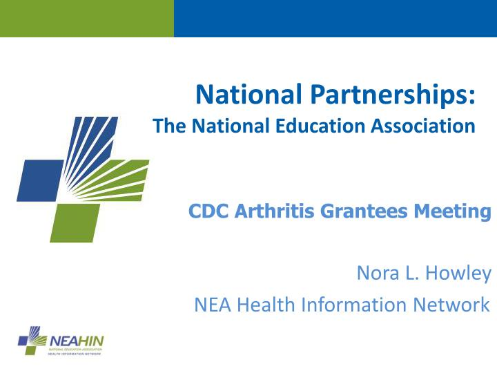 national partnerships the national education association n.