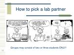 how to pick a lab partner