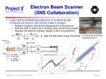 electron beam scanner sns collaboration