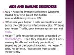 aids and immune disorders