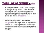 third line of defense continued