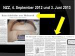 nzz 4 september 2012 und 3 juni 2013