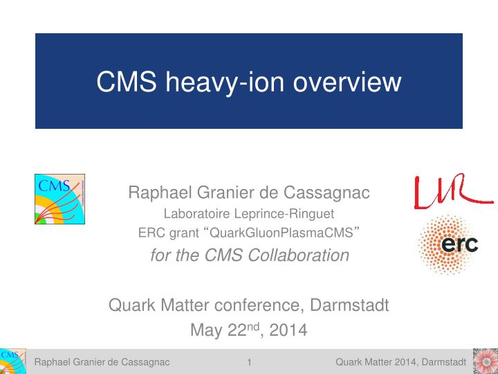 cms heavy ion overview n.