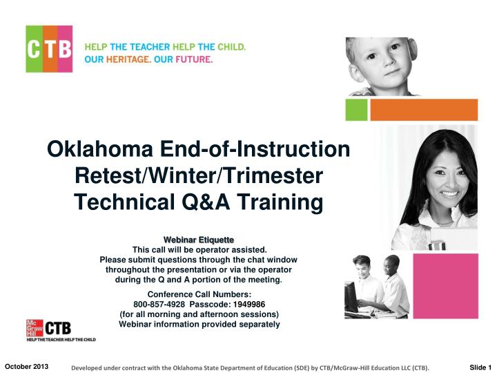 oklahoma end of instruction retest winter trimester technical q a training n.