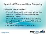 dynamics ax today and cloud computing