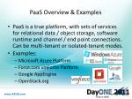 paas overview examples